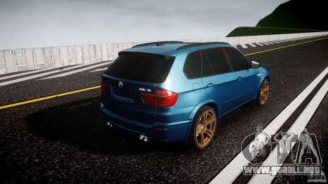 BMW X5 M-Power wheels V-spoke para GTA 4 vista lateral
