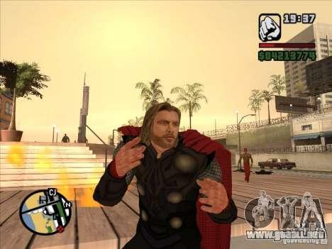 Thor para GTA San Andreas segunda pantalla