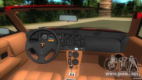 Lamborghini Jalpa P350 1984 para GTA Vice City visión correcta