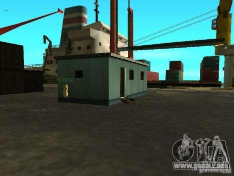 Renovación de la base militar en el puerto para GTA San Andreas décimo de pantalla