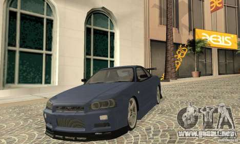 Nissan Skyline R-34 GTR para GTA San Andreas left