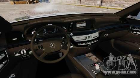 Mercedes-Benz S65 W221 Vossen v1.2 para GTA 4 vista lateral