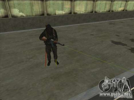 Weapon with laser para GTA San Andreas sucesivamente de pantalla
