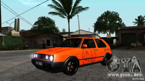 VW Golf 2 para visión interna GTA San Andreas