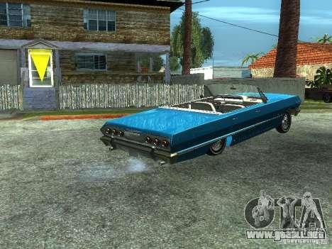 Chevrolet Impala 1964 (Lowrider) para GTA San Andreas left