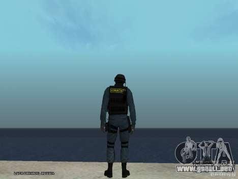 Oficial de policía antidisturbios para GTA San Andreas sucesivamente de pantalla