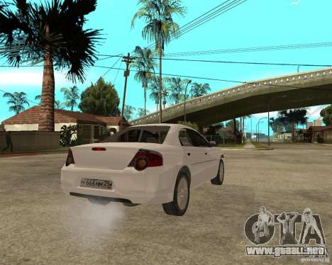 Siber Volga GAZ en 2,5 para GTA San Andreas vista posterior izquierda