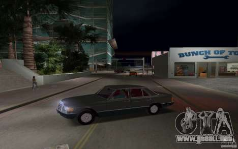 Mercedes-Benz W126 500SE para GTA Vice City left