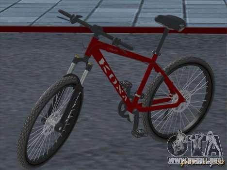 Kona Cowan 2005 para visión interna GTA San Andreas