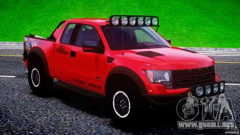 Ford F150 Racing Raptor XT 2011 para GTA 4 vista superior