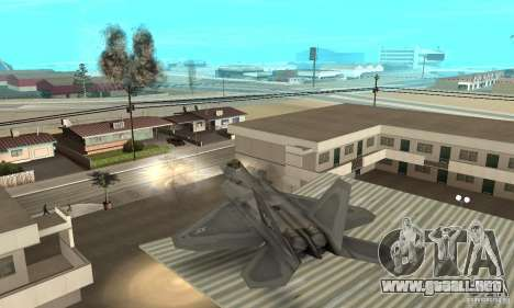F-22 Grey para la vista superior GTA San Andreas