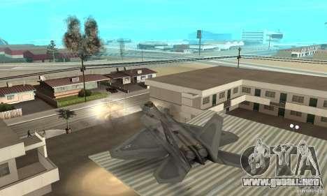F-22 Grey para la vista superior GTA San Andreas