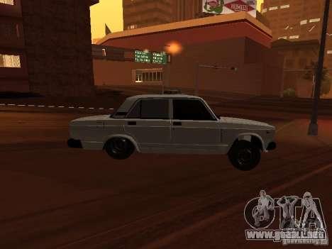 VAZ 2107 azerí completo para la visión correcta GTA San Andreas