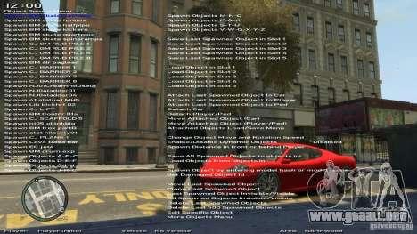 Entrenador de simple versión 6.2 para 1.0.6.0-1. para GTA 4 quinta pantalla