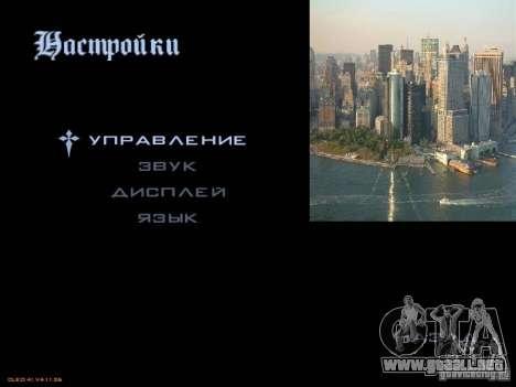Nuevo menú al estilo de Nueva York para GTA San Andreas segunda pantalla