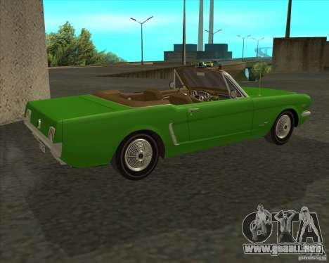 Ford Mustang 289 1964 para GTA San Andreas left