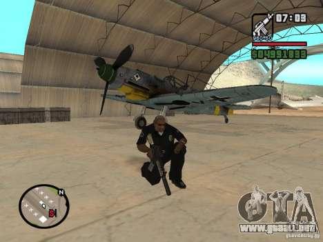 BF-109 G-16 para visión interna GTA San Andreas