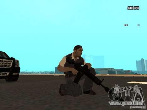 No Chrome Gun para GTA San Andreas sucesivamente de pantalla