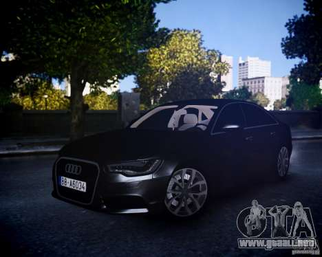Audi A6 2012 para GTA 4 left