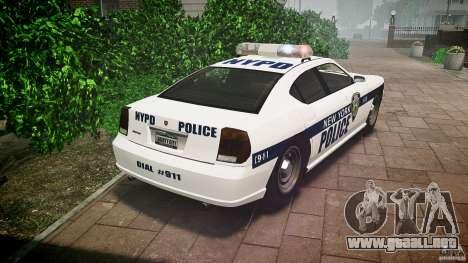 FIB Buffalo NYPD Police para GTA 4 Vista posterior izquierda