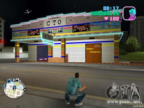 CIEN 1-auto servicio para GTA Vice City segunda pantalla