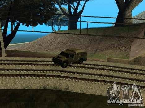 Hummer H2 Army para GTA San Andreas vista hacia atrás