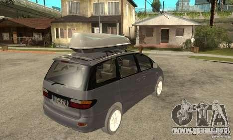 Toyota Estima para la visión correcta GTA San Andreas