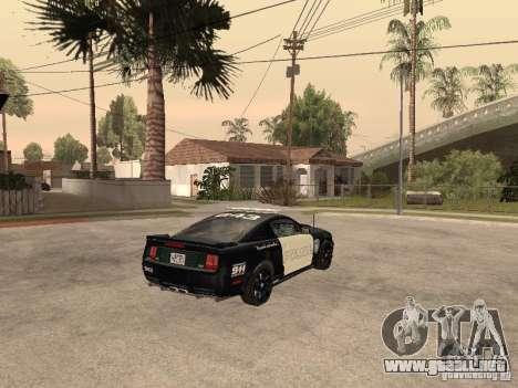 Saleen S281 2007 Barricade para GTA San Andreas vista posterior izquierda