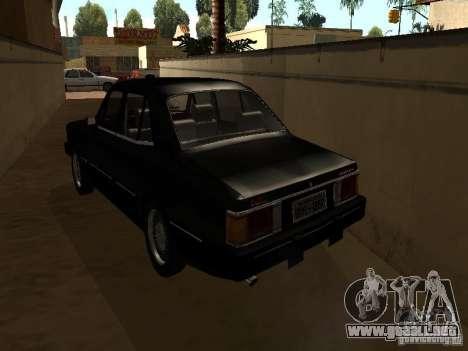 Chevrolet Opala BMT para GTA San Andreas vista posterior izquierda