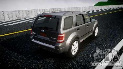 Ford Escape 2011 Hybrid Civilian Version v1.0 para GTA 4 vista superior