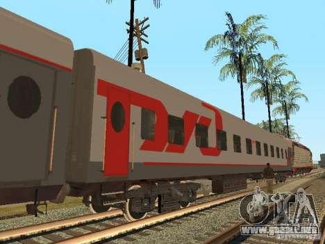 Coche de pasajeros RZD v2.0 para GTA San Andreas
