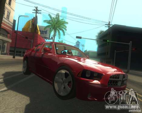Dodge Charger 2011 para visión interna GTA San Andreas