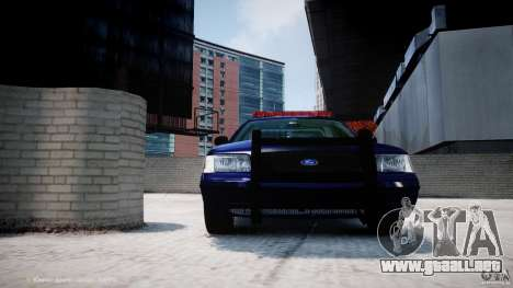Ford Crown Victoria New York State Patrol [ELS] para GTA 4 ruedas