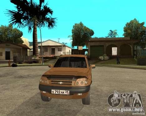 CHEVROLET NIVA Version 2.0 para GTA San Andreas vista hacia atrás