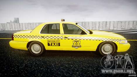 Ford Crown Victoria Raccoon City Taxi para GTA 4 vista hacia atrás