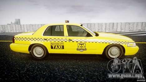 Ford Crown Victoria Raccoon City Taxi para GTA 4 vista hacia atrás