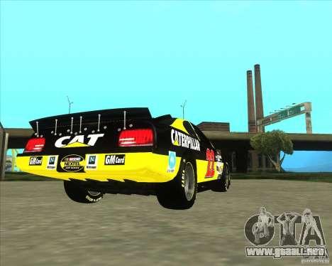 Dodge Nascar Caterpillar para GTA San Andreas vista posterior izquierda
