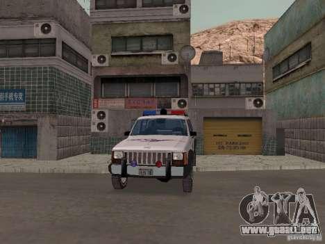 Jeep Cherokee Police 1988 para visión interna GTA San Andreas