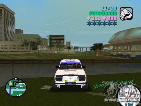 VAZ 2107 para GTA Vice City vista posterior
