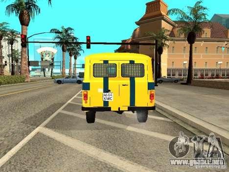 Policía 2206 UAZ para la visión correcta GTA San Andreas
