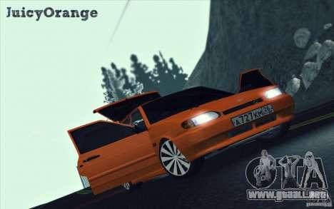 2114 Ваз con jugo de naranja para visión interna GTA San Andreas