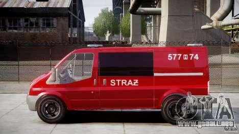 Ford Transit Polish Firetruck [ELS] para GTA 4 left
