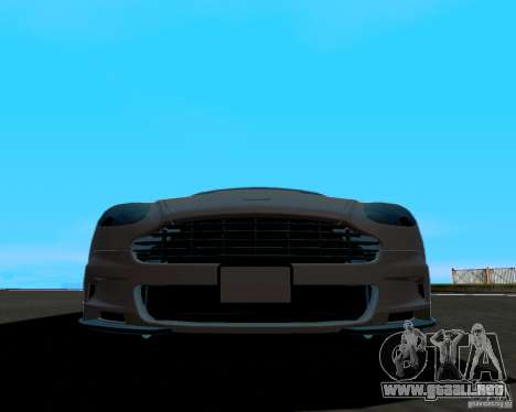 Aston Martin DBS para GTA San Andreas vista hacia atrás