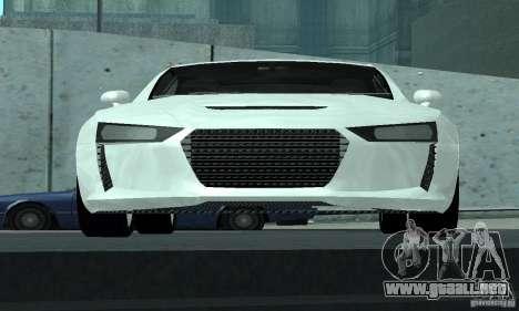 Audi Quattro Concept 2013 para la vista superior GTA San Andreas