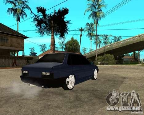 VAZ 21099 luz sintonía por Diman para GTA San Andreas vista posterior izquierda