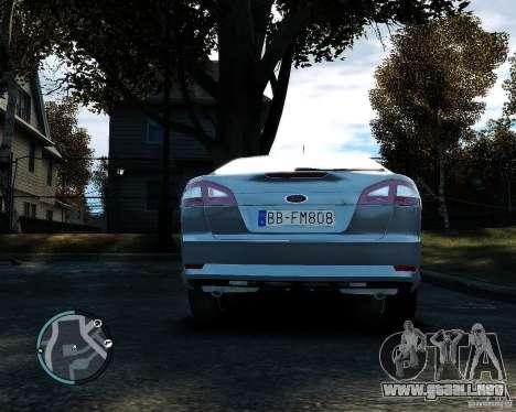 Ford Mondeo 2009 v1.0 para GTA 4 vista hacia atrás