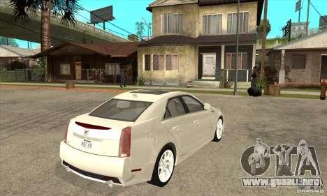 Cadillac CTS-V 2009 v2.0 para la visión correcta GTA San Andreas