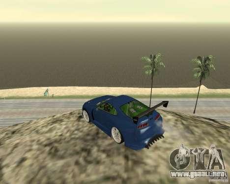 Toyota Supra TwinTurbo para vista inferior GTA San Andreas