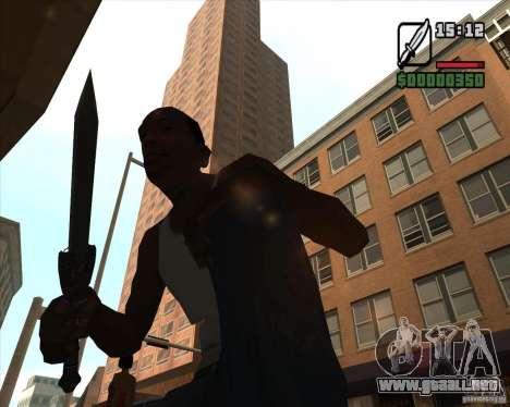 Gladius Knife para GTA San Andreas tercera pantalla