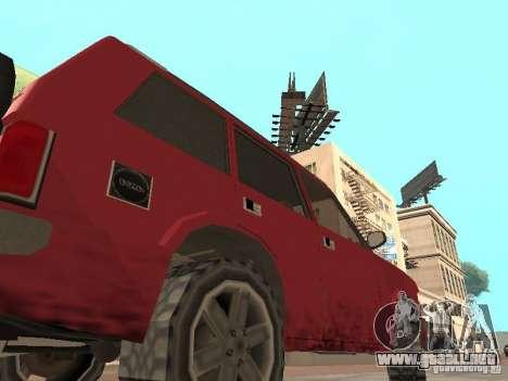 El nuevo Huntley para GTA San Andreas vista posterior izquierda